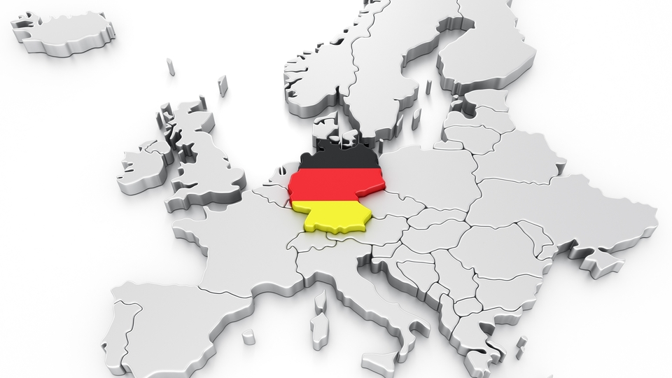 Symbol 3d eu white germany europe map flag